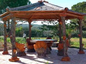 Gazebo finto legno