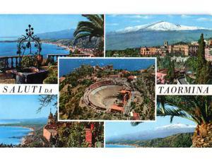 ITALIA Sicilia Taormina finestre panoramiche