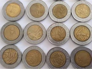Monete da 500 lire Repubblica Italiana e Repubblica di S.