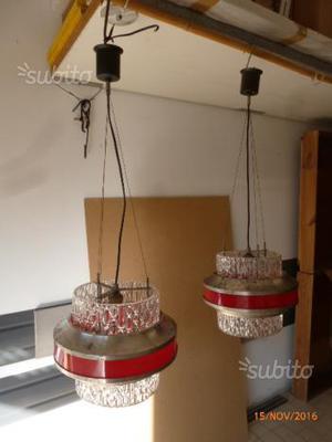 Coppia di lampadari vintage
