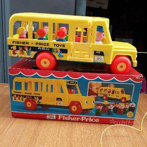 Giocattolo vintage scuolabus fisher prise toys