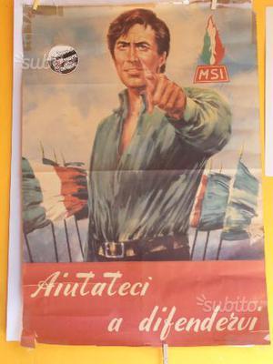 Manifesto MSI anni 70