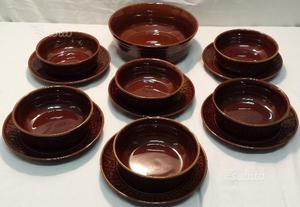 Servizio vintage terracotta