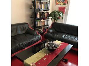 2 divani cassina sindbad in pelle nera in buono stato
