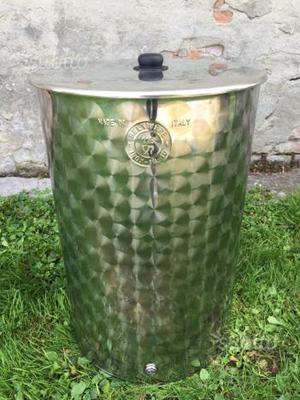 Contenitore in acciaio inox 110 LT per olio o vino