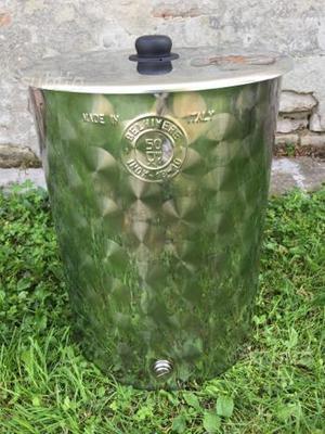 Contenitore in acciaio inox 50 LT per olio o vino