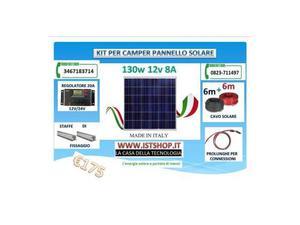Kit pannello solare per camper 140w