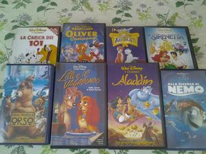 Offro Videocassette VHS originali cartoni animali e altro