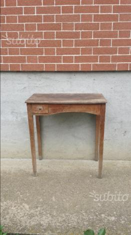 Tavolo antico vintage tavolino in legno