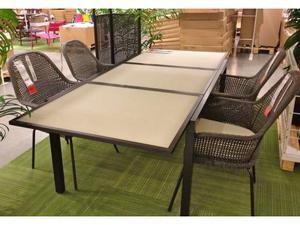Tavolo da esterno ferro e vetro
