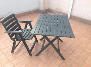 Sedie Da Giardino In Plastica Grand Soleil : Tavolo e sedie pieghevoli grand soleil posot class
