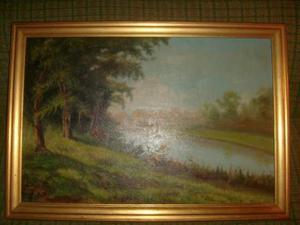 Coppia quadri olio su tela