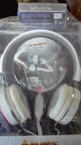 Cuffie Majestic lettore MP3 nuovo sigillato CRA 28