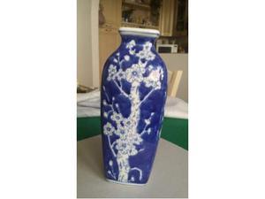 """Graziosissimo vaso quadrangolare cinese """"Fiori di Pesco"""""""