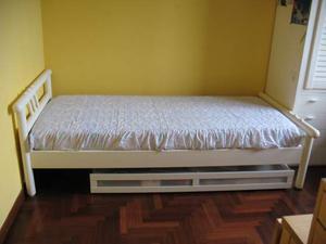 Letto contenitore in legno 140 x 190 rete posot class - Letto contenitore 140 x 190 ...