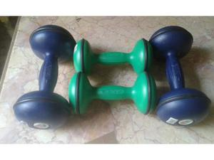 2 coppie di pesi da palestra di kg.3 e kg 5 nuovi