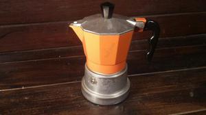 C110 Il Riuso caffettiera alluminio Top Moka rossa