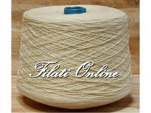 CO151 Filato puro cotone bianco panna naturale