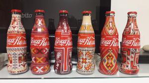 Coca cola set 6 bottiglie vetro Bulgaria novità