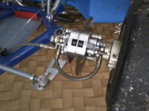 Impianto frenante anteriore top kart e simili per kf