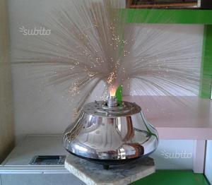 Lampada vintage fibra ottica+colonnina marmo
