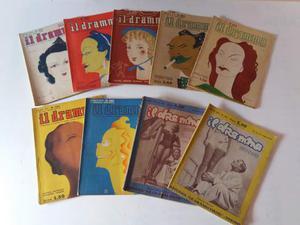 """Lotto 9 numeri anni '30 rivista quindicinale """"Il Dramma"""""""