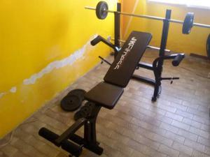 Panca con bilanciere fitness con pesi