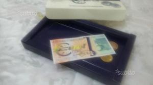 Set di 1 banconota e 2 monete Fiesole e Ponta