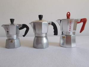 3 caffettiere Bialetti da 1, 2 e 3 tazze