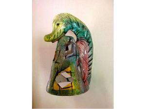 Applique in ceramica policroma anni '60
