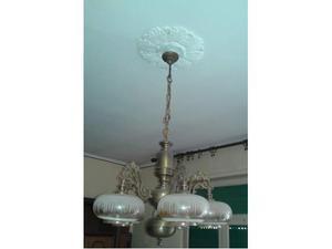 Plafoniere Vetro Vintage : Lampadario vintage vetro e ottone: ottone usato vedi