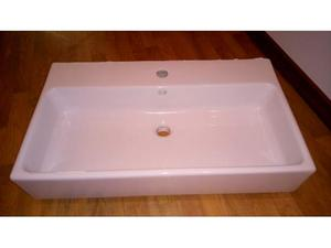 Lavabo a 1 vasca,bianco. bagno