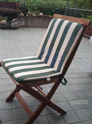 Coprisedie per sedie da giardino posot class - Sedie giardino legno ...