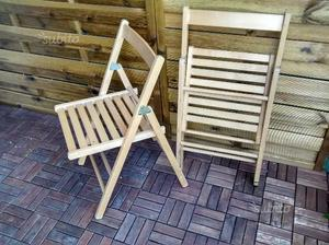 Sedie pieghevoli in legno