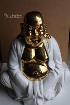 Statua di Budda dorato in ceramica - anni 60'