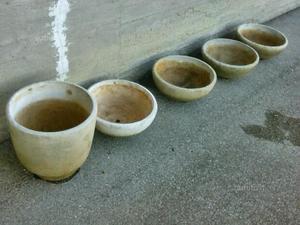 Vasi da giardino in cemento