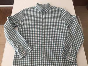 Camicia H&M verde a quadretti taglia L regular-fit