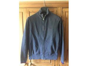 Felpa Uomo con zip e tasche Fred Perry colore blu taglia L