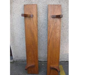 coppia di mensole in legno