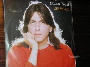 """2 dischi 45 giri """"luna"""" e """"semplice"""" Ganni Togni"""