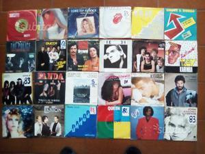 Lotto 100 Dischi 45 Queen, Rolling Stone, Genesis