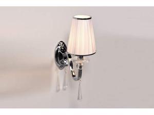 Applique lampada da parete con cristalli Federrica W1