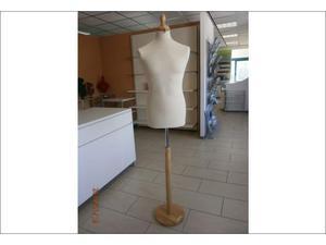 Busto sartoriale uomo con base in legno
