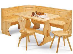 Giropanca ad angolo in legno massello