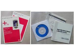 2 manuale Ipaq HP cd RF Wireless super mini mouse