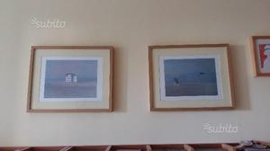 2 quadri con stampe di Walter Lazzaro