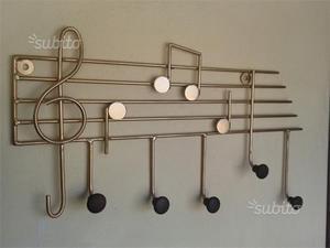 Attaccapanni ferro battuto chiave violino