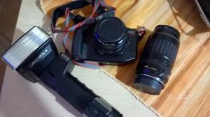 Fotocamera reflex canon+ flash
