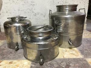 Fusti contenitori acciaio inox per olio o vino