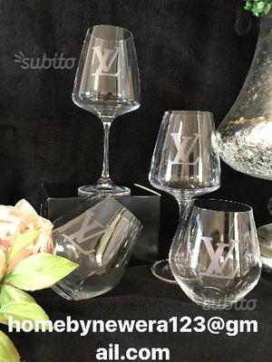 Louis Vuitton gift set,Lv bicchieri da vino e Aqua